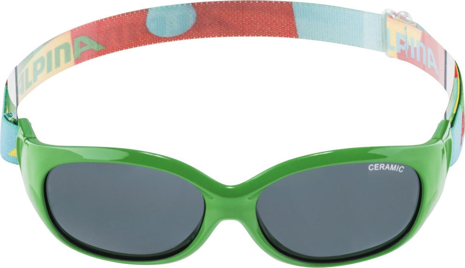 1e97ee1027 Alpina Sports Flexxy - Gafas ciclismo Niños - verde/Multicolor ...